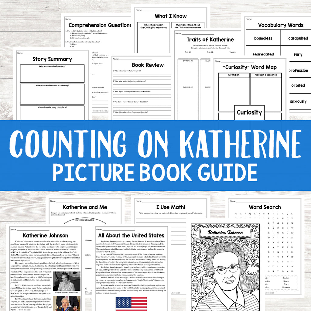 Counting on Katherine Picture Book Study <h5><b>Grades:</b> 3-6</h5>