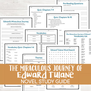 The Miraculous Journey of Edward Tulane Novel Study <h5><b>Grades:</b> 3-5 </h5>