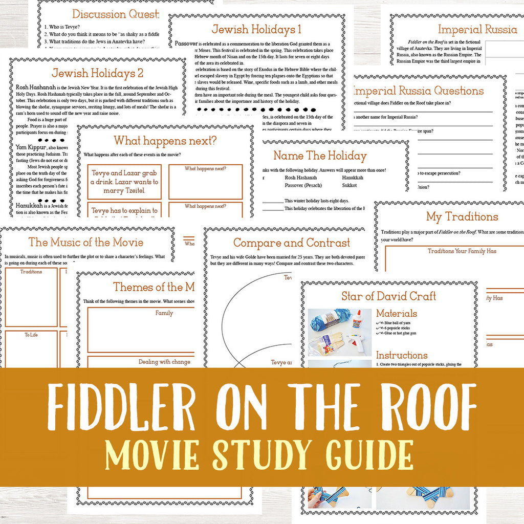 Fiddler on the Roof Movie Study  <h5><b>Grades:</b> 5-8 </h5>