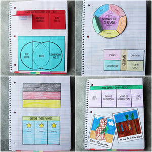 Germany Interactive Notebook <h5><b>Grades:</b> 2-5 </h5>