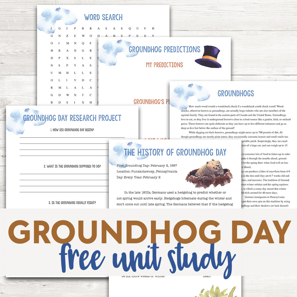 Groundhog Day Unit Study <h5><b>Grades:</b> 2-5</h5>