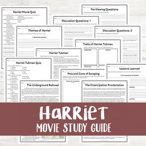 Harriet Movie Study <h5><b>Grades:</b> 6+</h5>