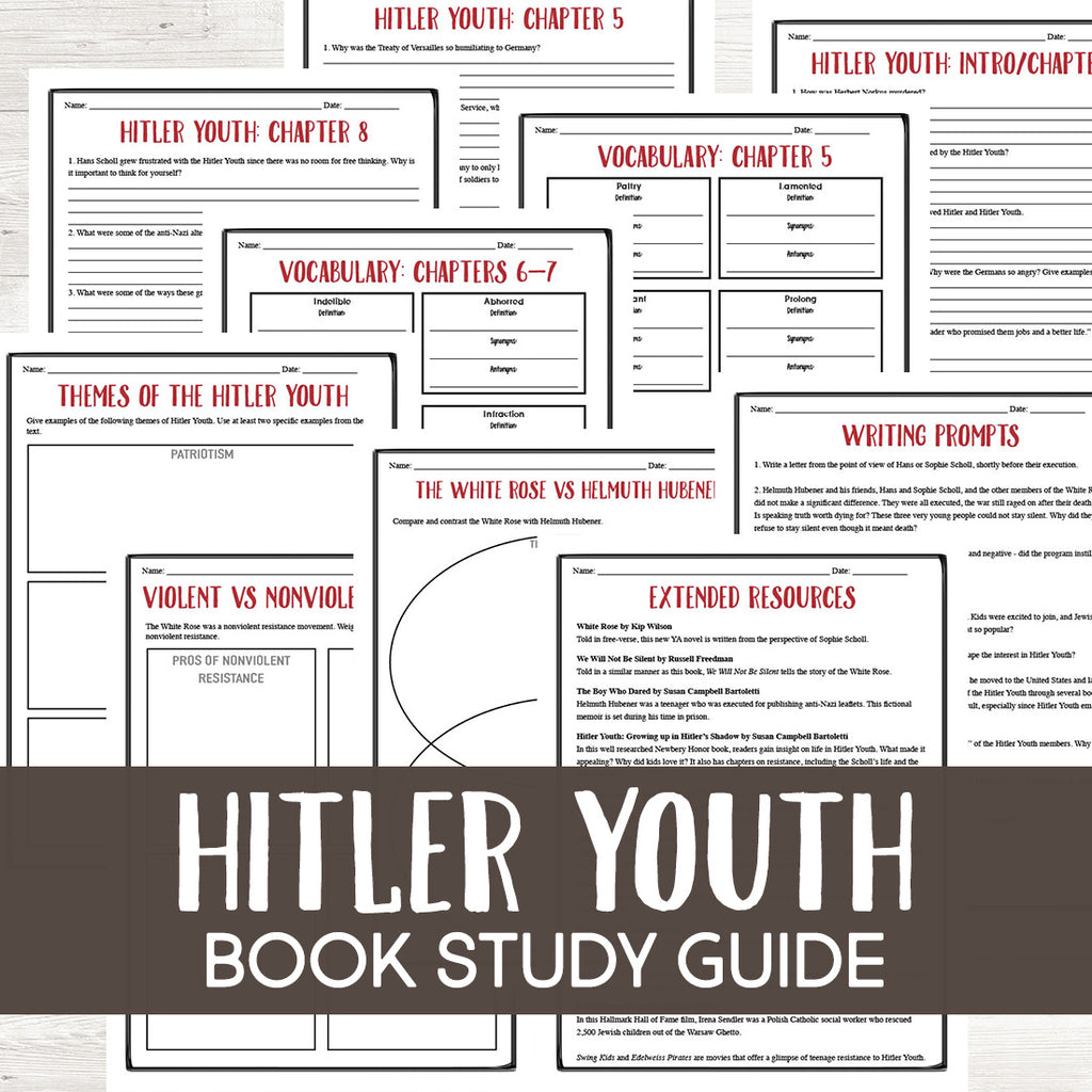 Hitler Youth: Growing Up in Hitler's Shadow Book Study  <h5><b>Grades:</b> 7-9 </h5>