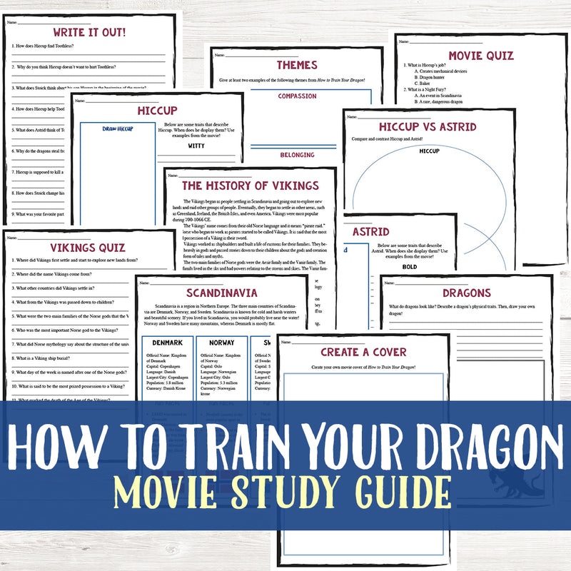 How to Train Your Dragon Movie Study