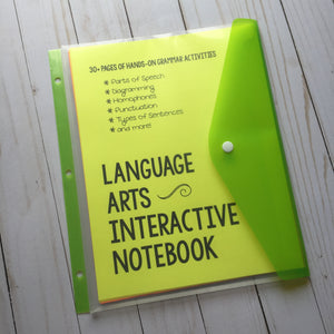 Language Arts Interactive Notebook <h5><b>Grades:</b> 4-7 </h5>