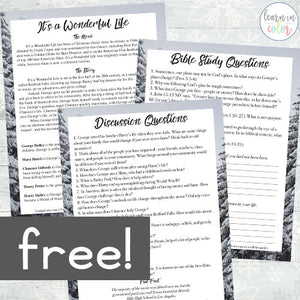 It's a Wonderful Life Movie Bible Study  <h5><b>Grades:</b> 4-7 </h5>