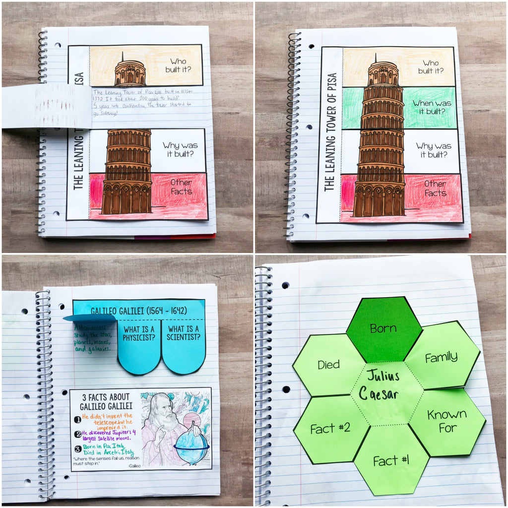 Italy Interactive Notebook <h5><b>Grades:</b> 2-5 </h5>