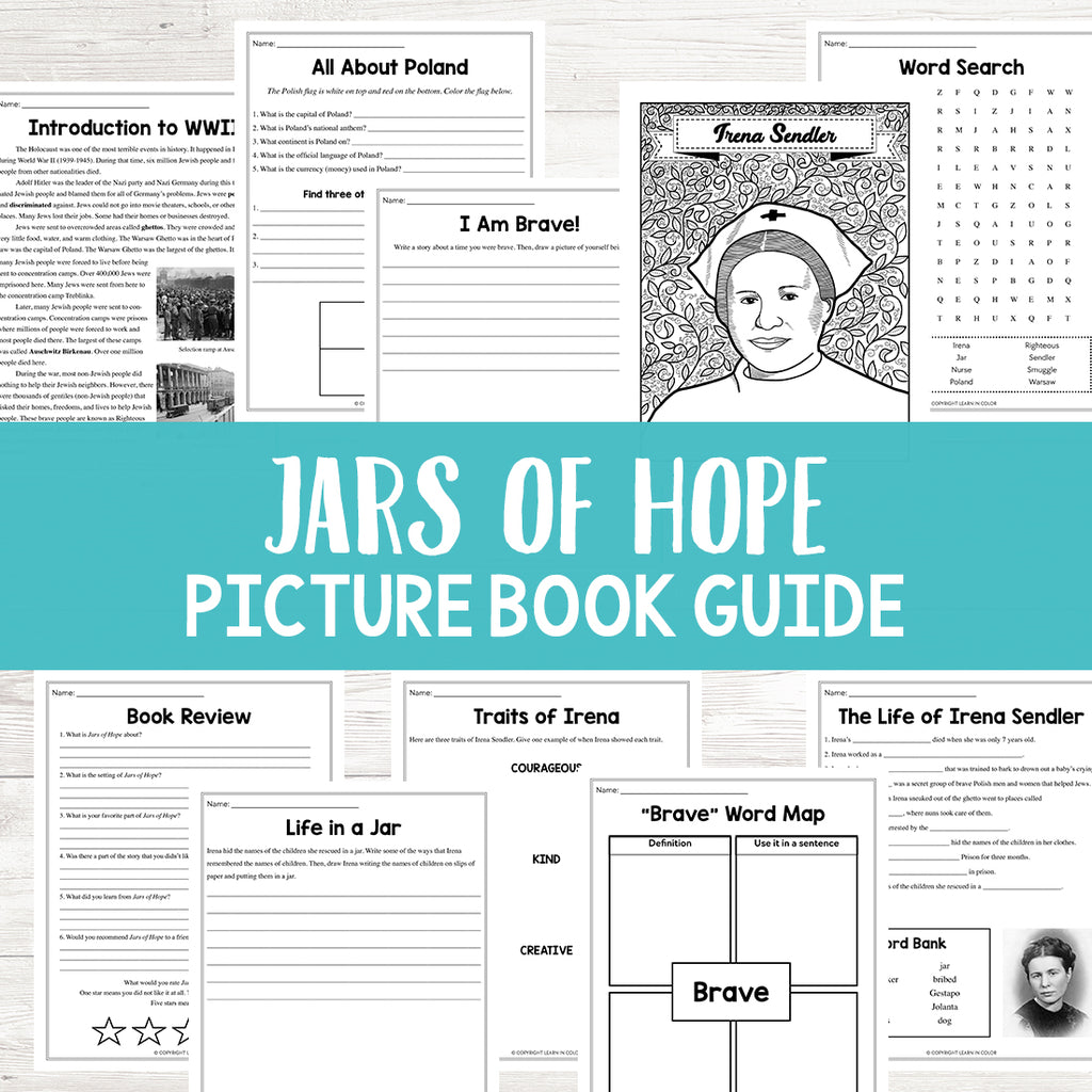 Jars of Hope Book Activities  <h5><b>Grades:</b> 3-5 </h5>