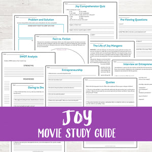 Joy Movie Study  <h5><b>Grades:</b> 7-12</h5>