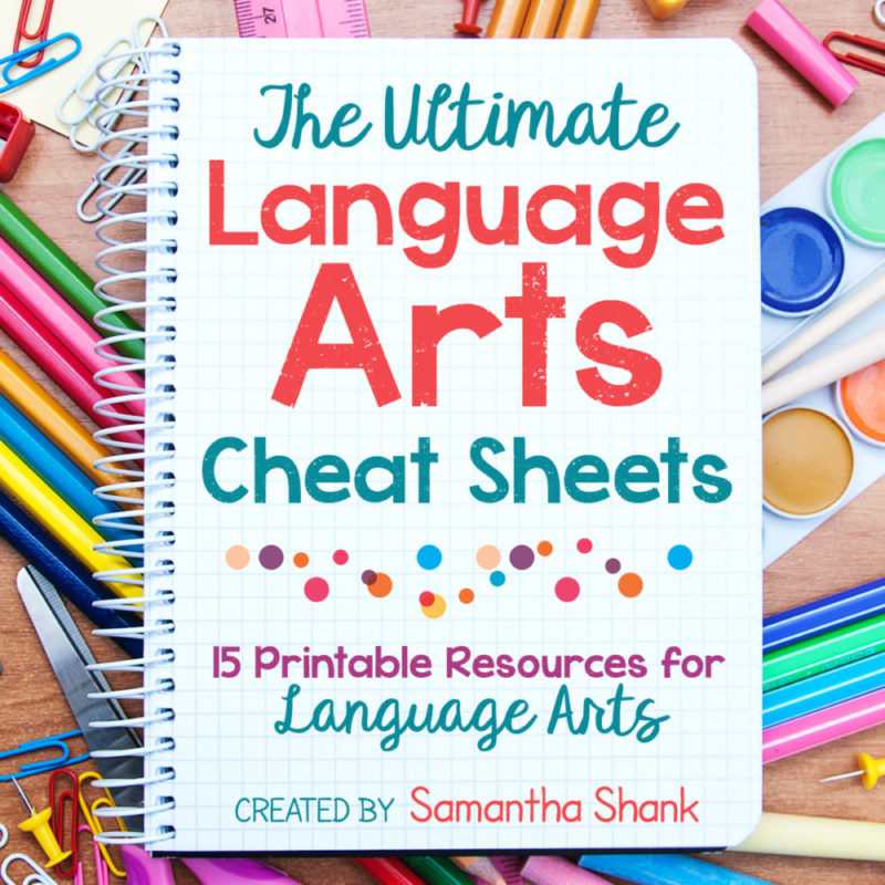 The Ultimate Language Arts Cheat Sheets