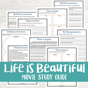 Life is Beautiful Movie Study <h5><b>Grades:</b> 7-10 </h5>