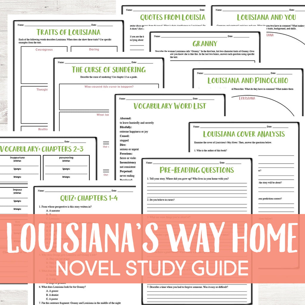 Louisiana's Way Home Novel Study