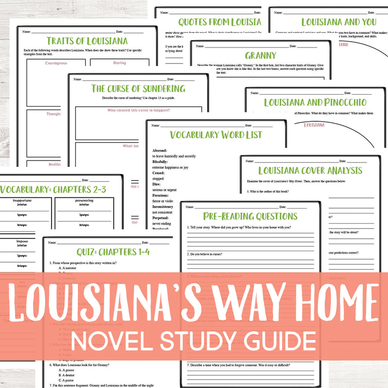 Louisiana's Way Home Novel Study <h5><b>Grades:</b> 4-6 </h5>