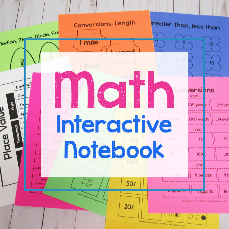 Math Interactive Notebook <h5><b>Grades:</b> 4-8 </h5>