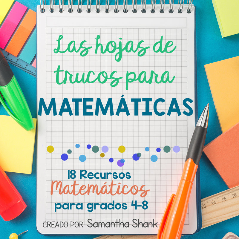 The Ultimate  Math Cheat Sheets (Spanish) Las Hojas De Trucos Para Matemáticas