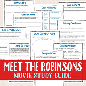 Meet the Robinsons Movie Study <h5><b>Grades:</b> 3-6 </h5>