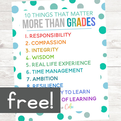 10 Things That Matter More Than Grades