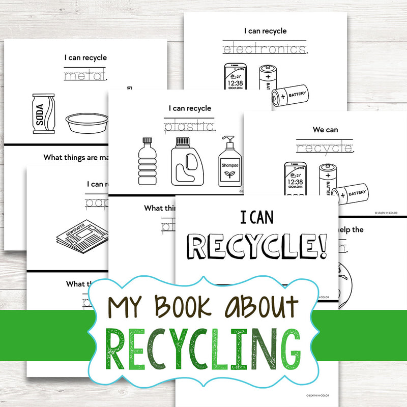 My Book About Recycling - English & Spanish