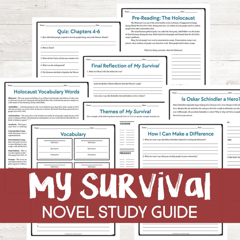 My Survival: A Girl on Schindler's List by Rena Finder Book Study <h5><b>Grades:</b> 5-6 </h5>