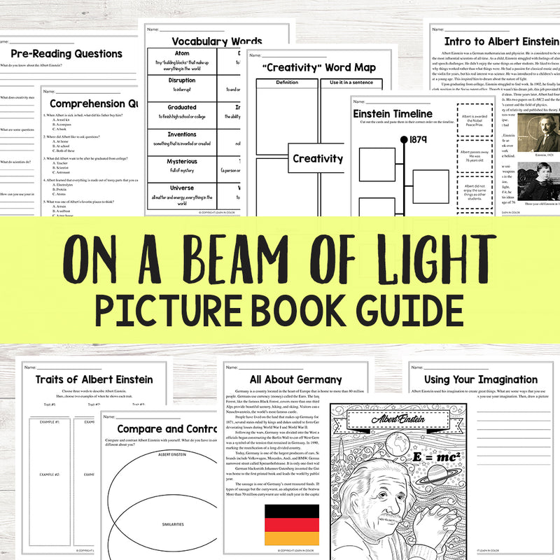 On a Beam of Light Book Study Guide <h5><b>Grades:</b> 3-6 </h5>