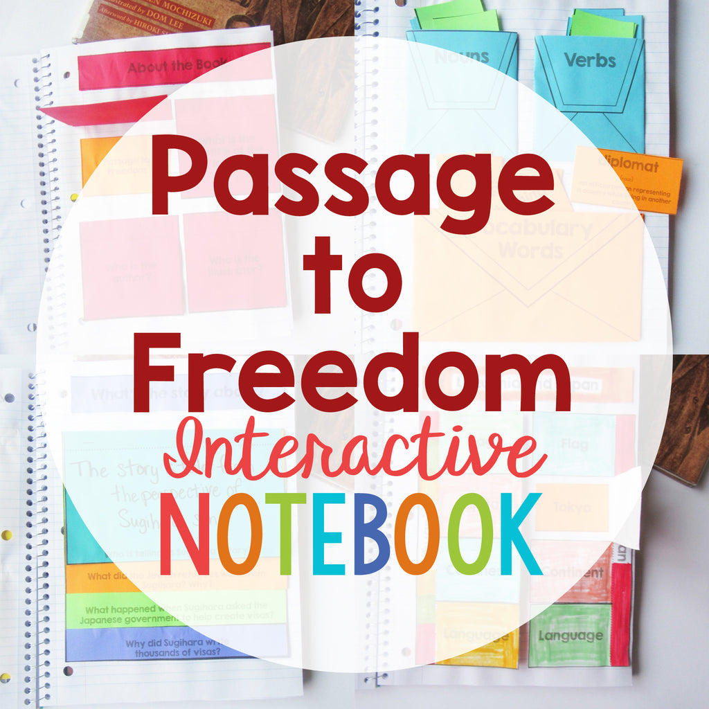 Passage to Freedom Interactive Notebook <h5><b>Grades:</b> 3-5 </5>