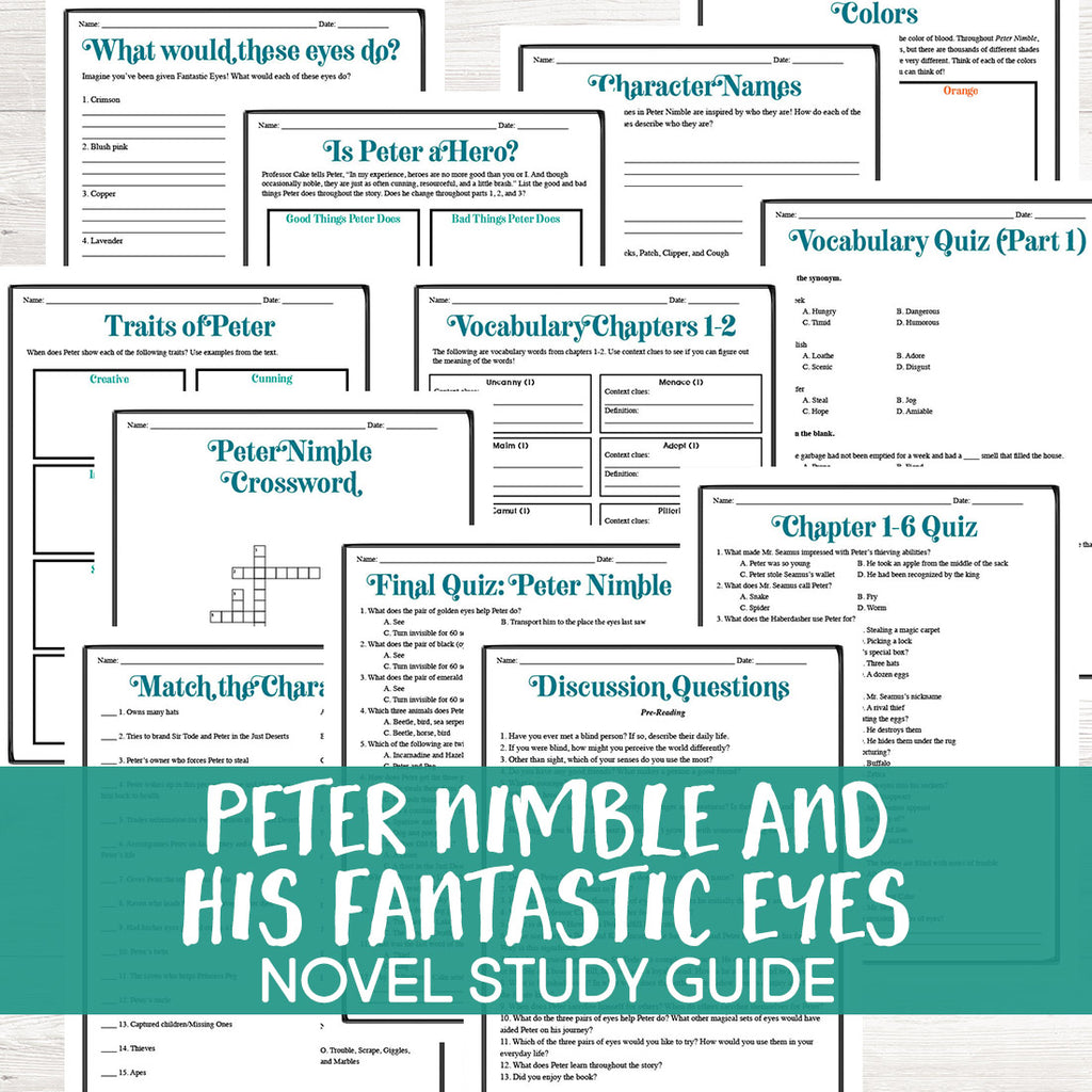 Peter Nimble and His Fantastic Eyes Novel Study <h5><b>Grades:</b> 5-7 </h5>