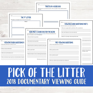 Pick of the Litter (2018) Viewing Guide