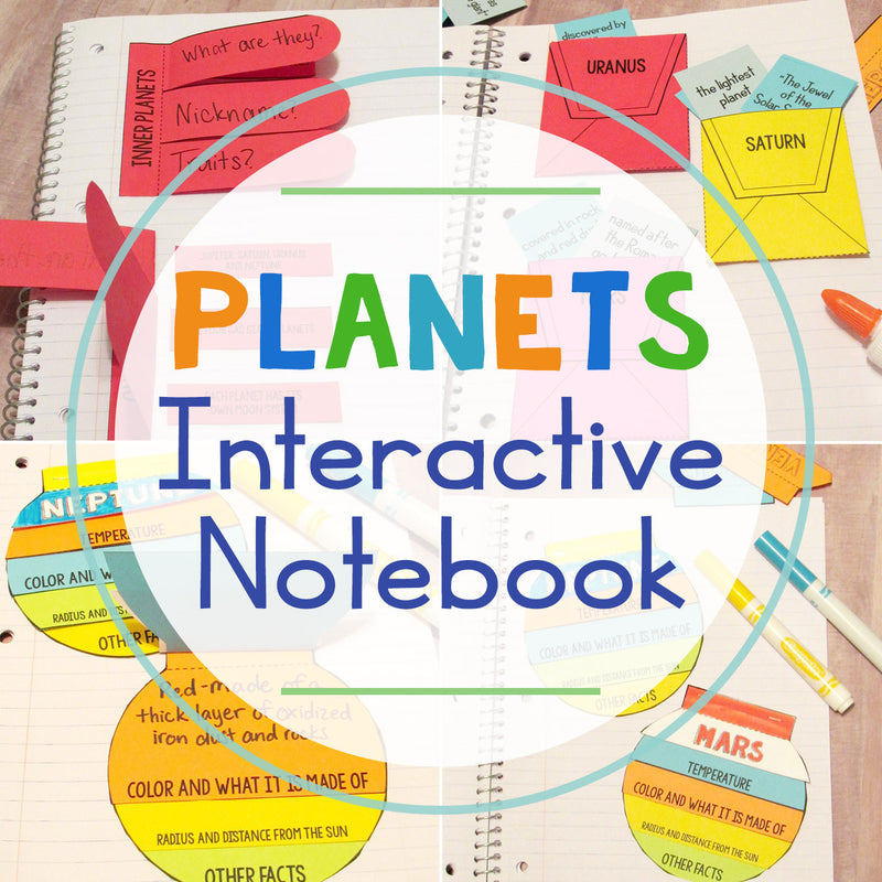 Planets Lapbook Interactive Notebook + Cheat Sheets