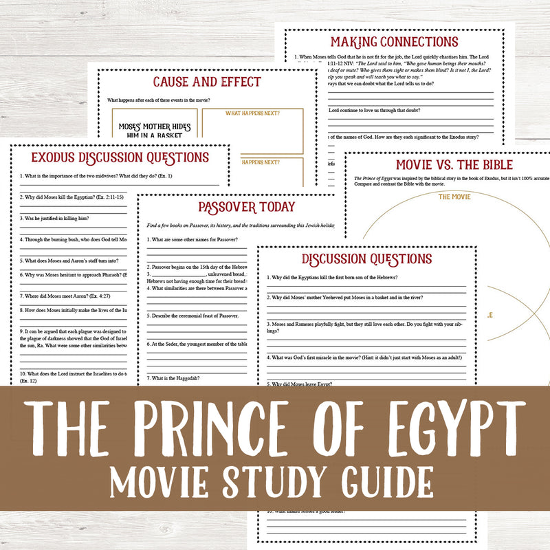 The Prince of Egypt Movie Study <h5><b>Grades:</b> 4-6 </h5>