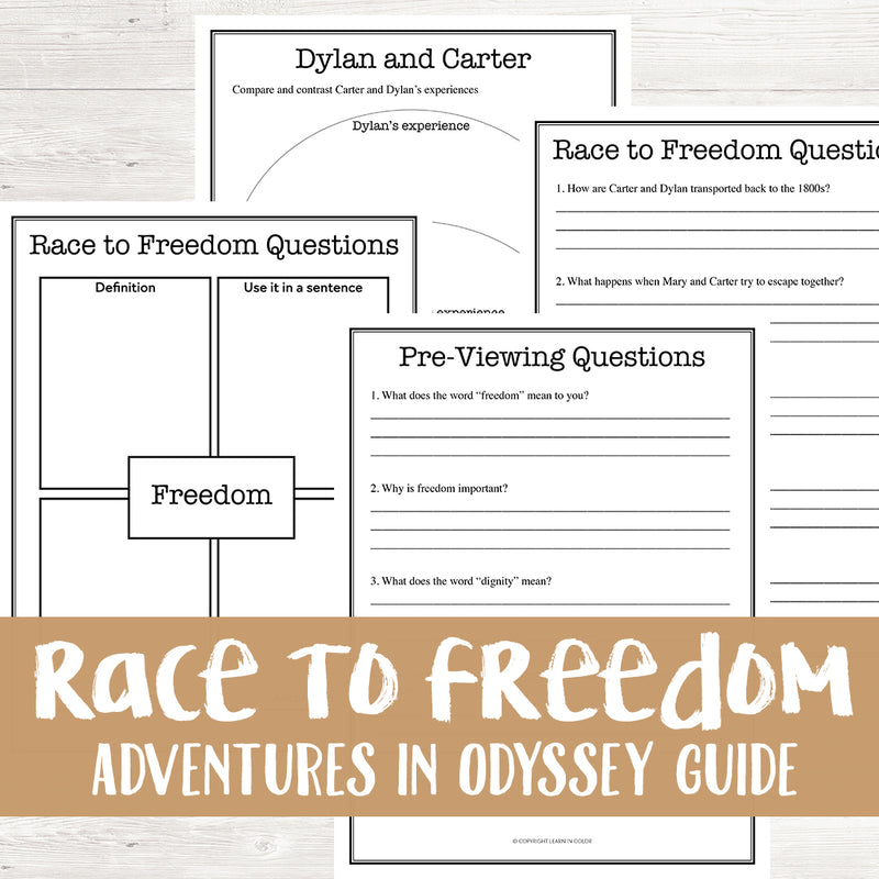 Race To Freedom: Adventures in Odyssey Movie Guide <h5><b>Grades:</b> 2-4 </h5>