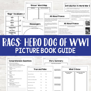 Rags: Hero Dog of WWI Book Study <h5><b>Grades:</b> 3-5 </h5>