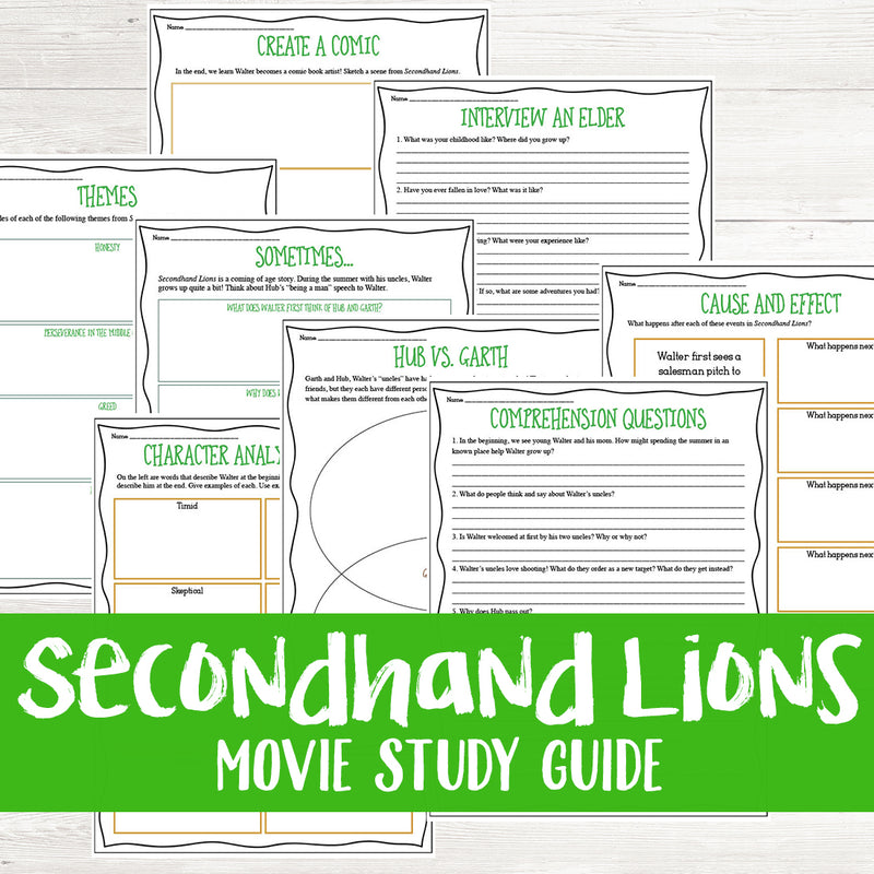 Secondhand Lions Movie Study