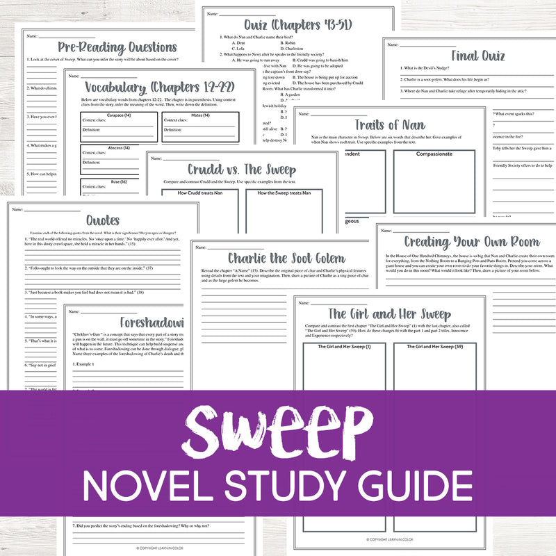 Sweep Novel Study
