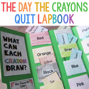 The Day the Crayons Quit Lapbook <h5><b>Grades:</b> PreK-2 </h5>