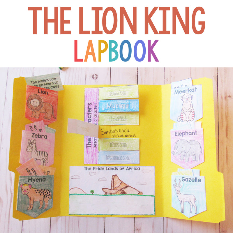 The Lion King Lapbook <h5><b>Grades:</b> 2-4 </h5>