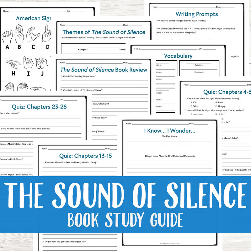 The Sound of Silence by Myron Uhlberg Book Study