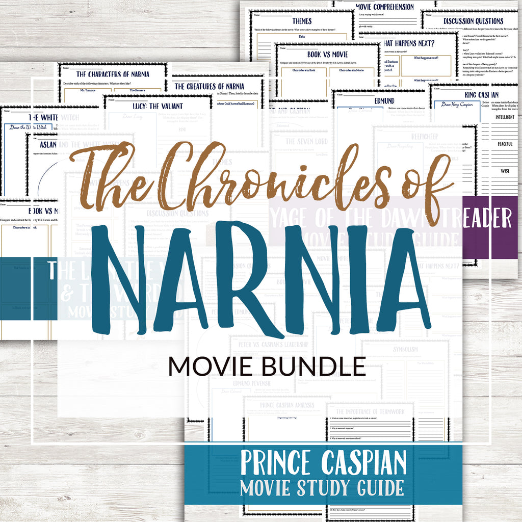 The Chronicles of Narnia Movie Bundle <h5><b>Grades:</b> 6-8 </h5>