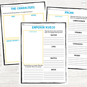 The Emperor's New Groove Movie Study <h5><b>Grades:</b> 3-5 </h5>