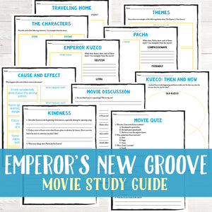 The Emperor's New Groove Movie Study