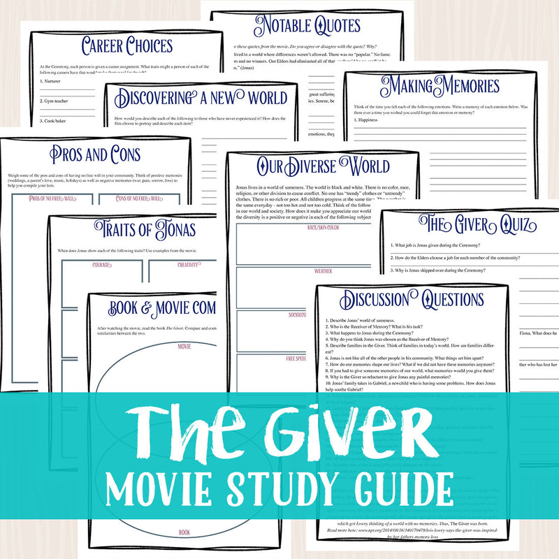 The Giver Movie Study