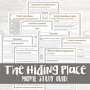 The Hiding Place Movie Study <h5><b>Grades:</b> 5-9 </h5>