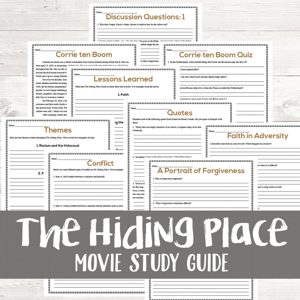 The Hiding Place Movie Study