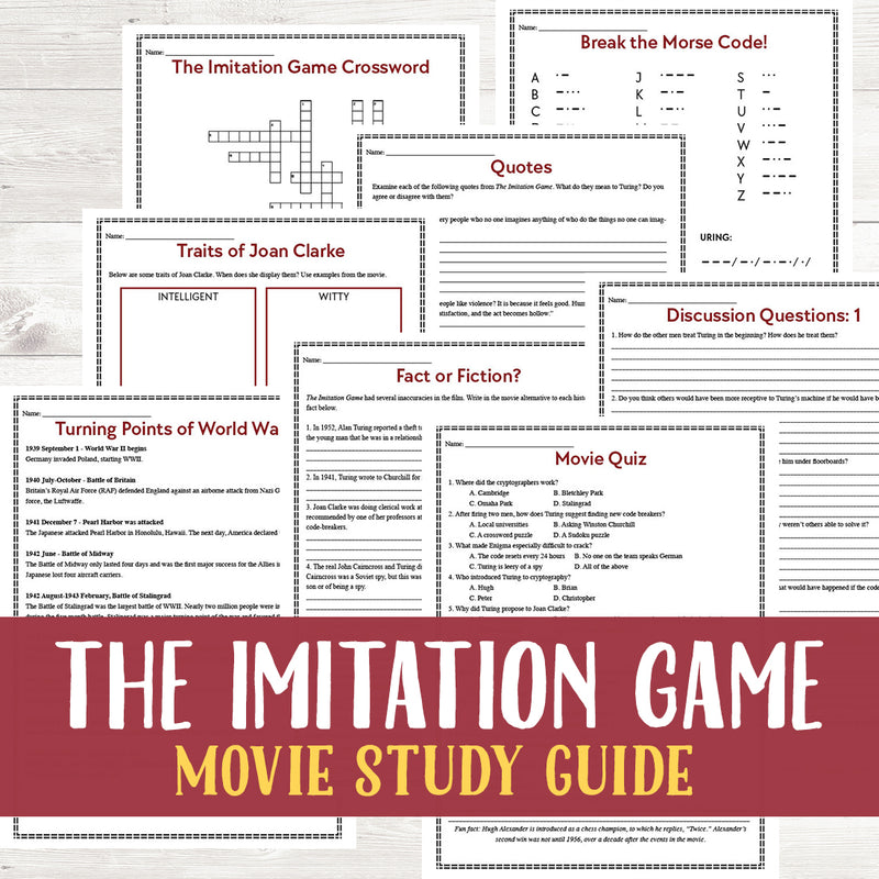 The Imitation Game Movie Study