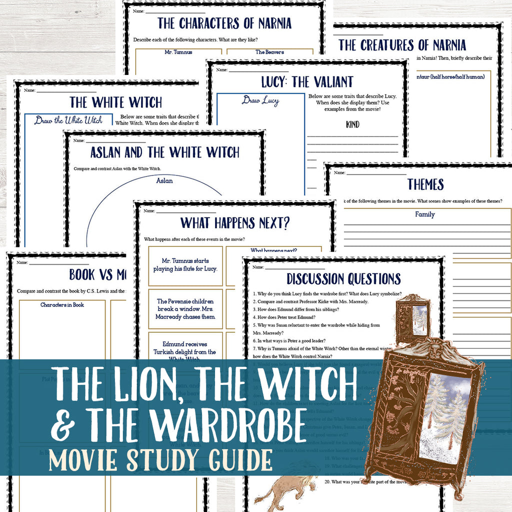 The Lion, the Witch, and the Wardrobe Movie Study <h5><b>Grades:</b> 5-8 </h5>