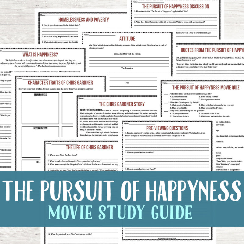 The Pursuit of Happyness Movie Study