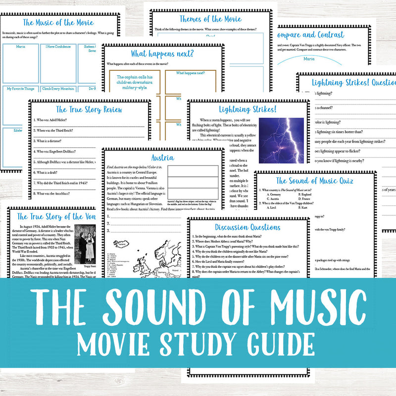 The Sound of Music Movie Study <h5><b>Grades:</b> 4-7 </h5>