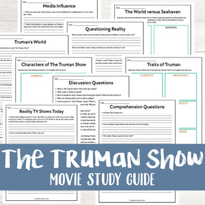 The Truman Show Movie Study <h5><b>Grades:</b> 6-8 </h5>