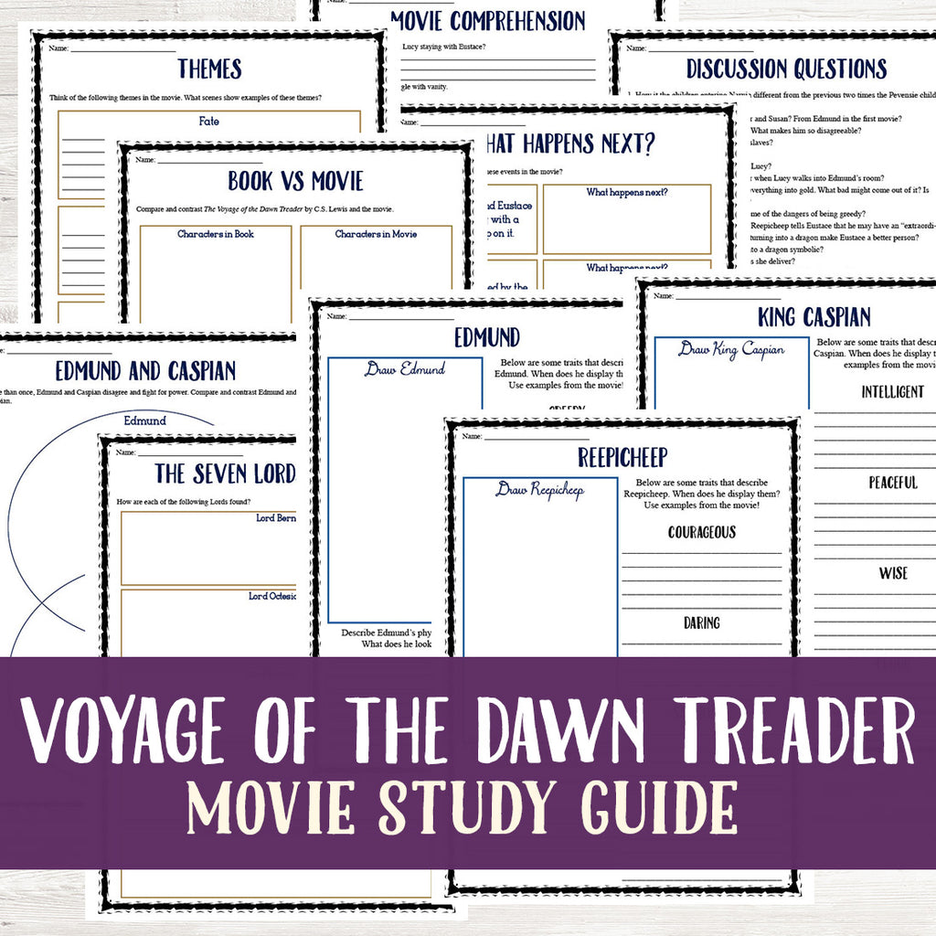 The Voyage of the Dawn Treader Movie Study <h5><b>Grades:</b> 6-8 </h5>