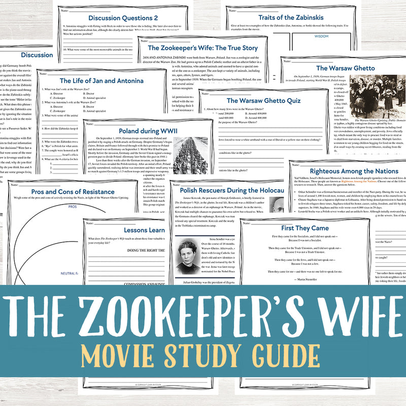 The Zookeeper's Wife Movie Study <h5><b>Grades:</b> 9-12 </h5>