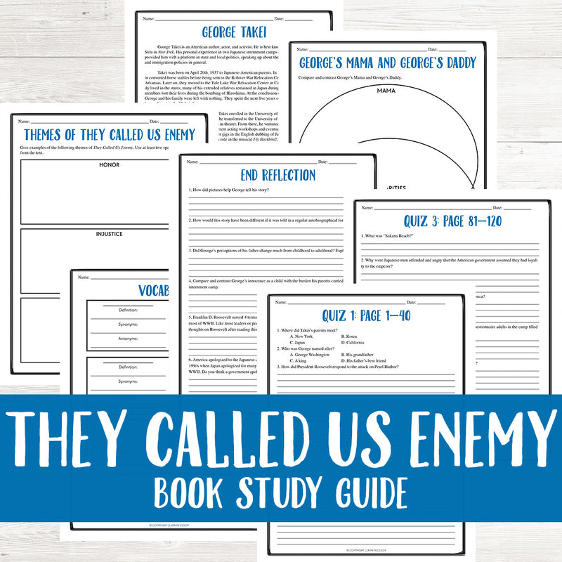 They Called Us Enemy by George Takei Book Guide